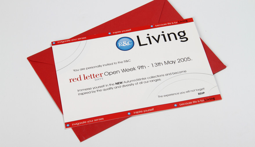 R&C Living Red Letter Invitation
