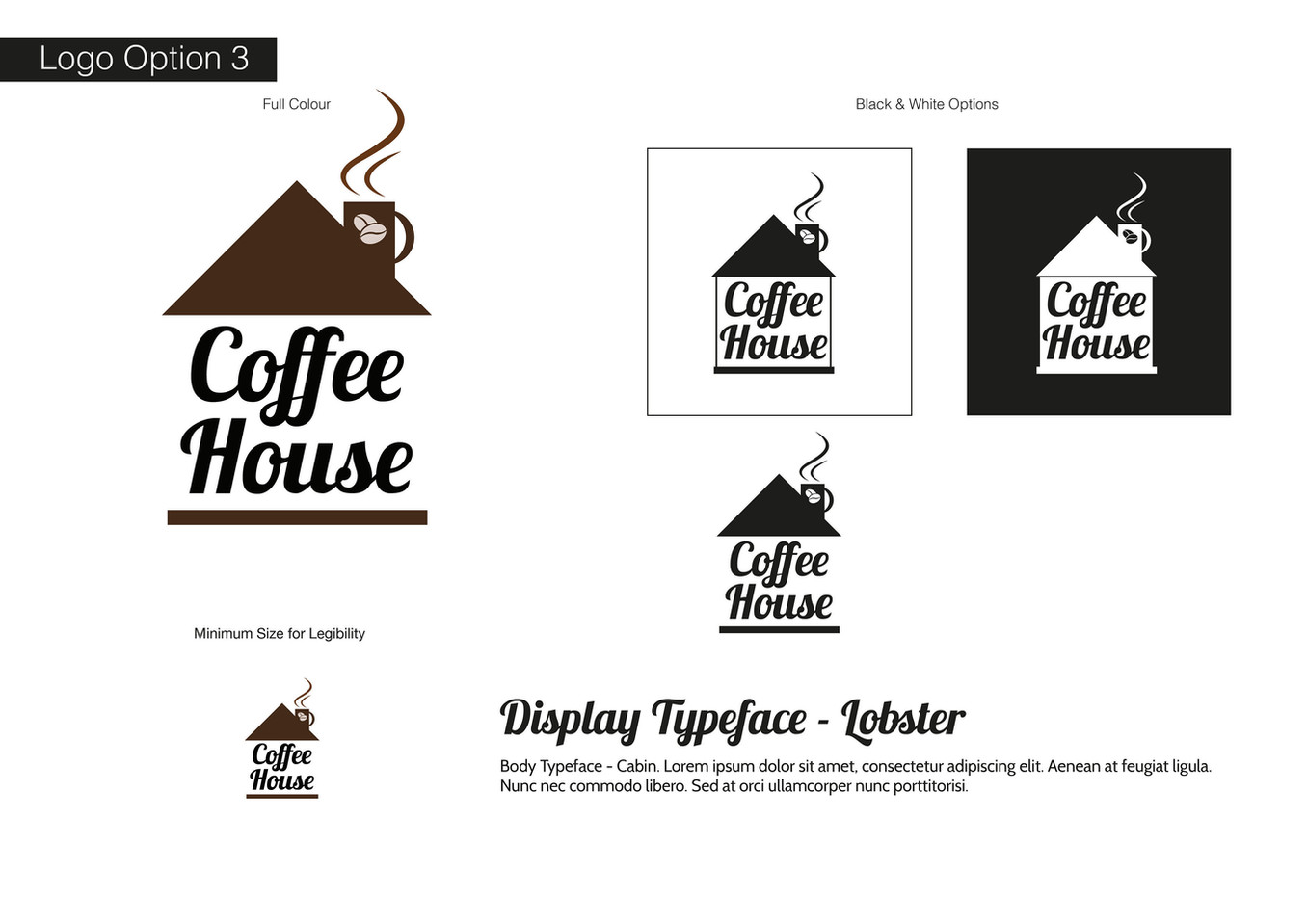 Coffee House Visual Identity - Development 3