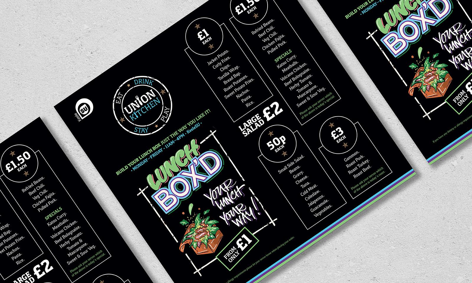 Union Kitchen - Lunch Box'd: Menu Insert