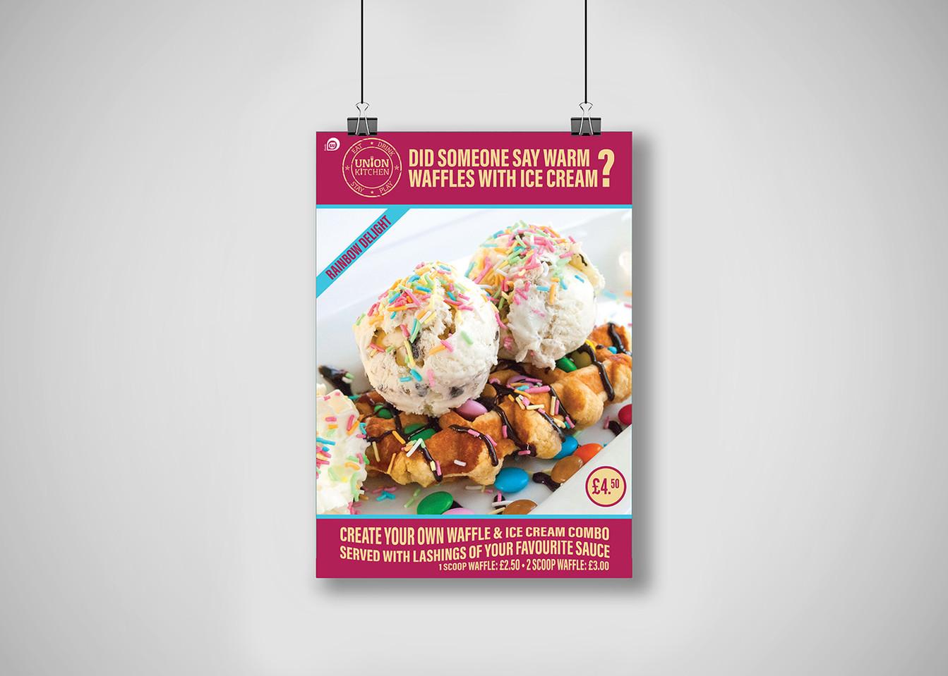 Union Kitchen - Sweet Temptation - Waffle Poster