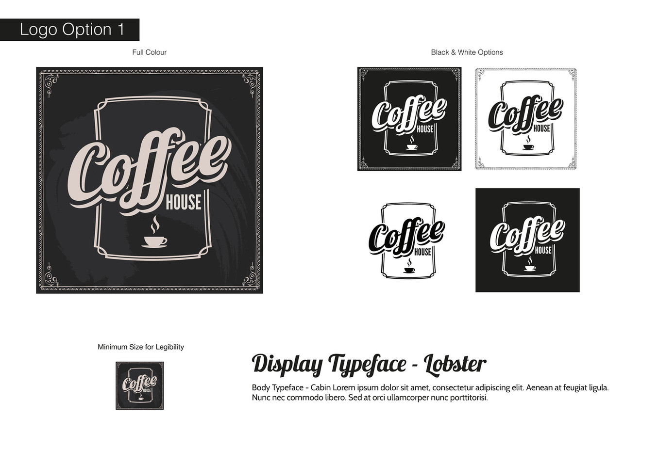 Coffee House Visual Identity - Development 1