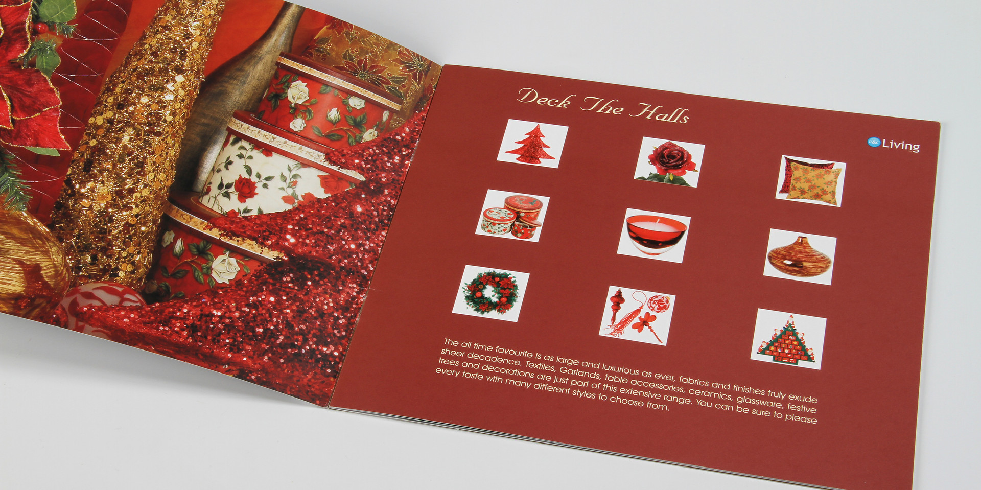 R&C Living Christmas Booklet Deck the Halls Spread