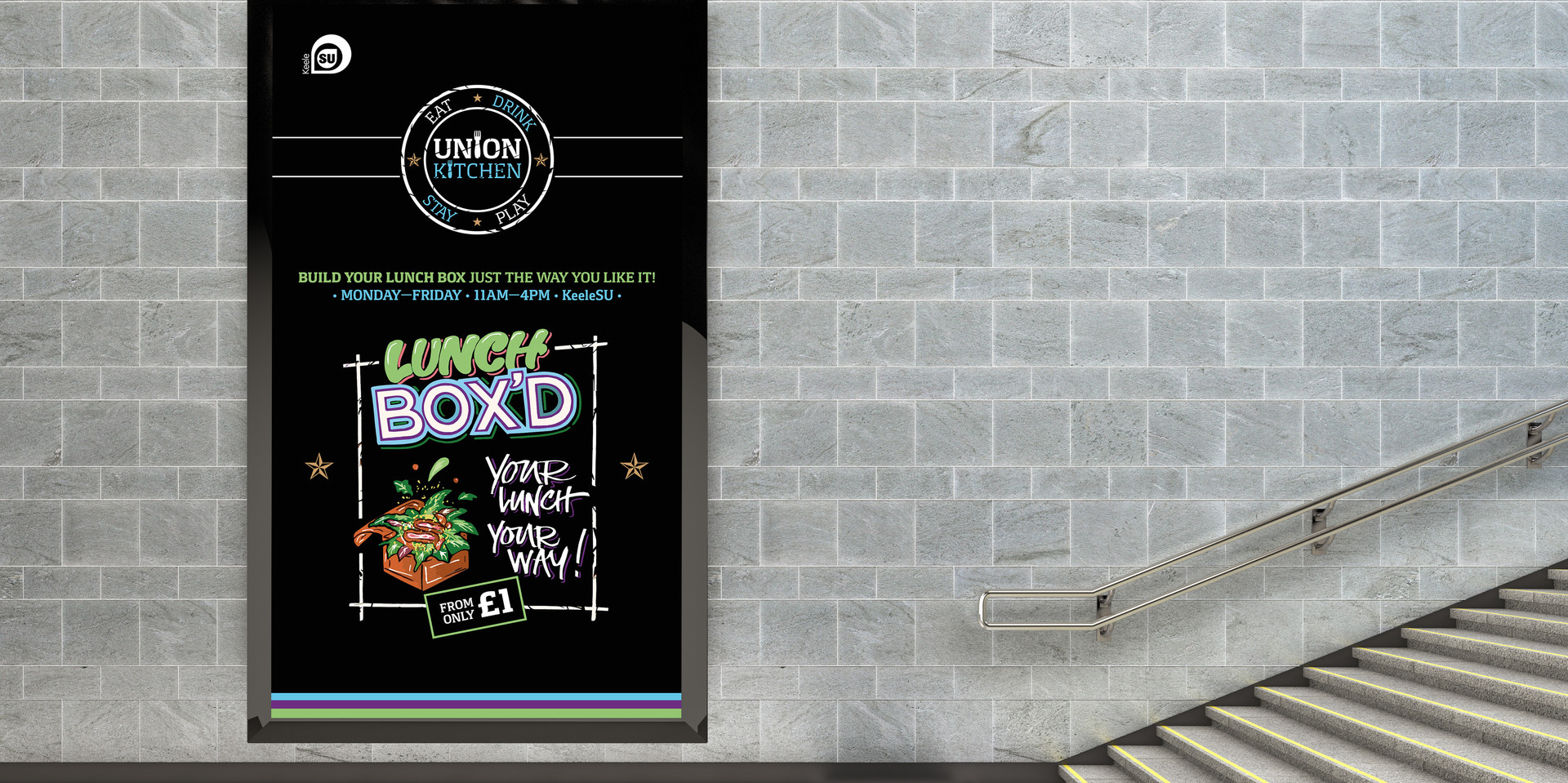 Union Kitchen - Lunch Box'd: Vertical TV Screen