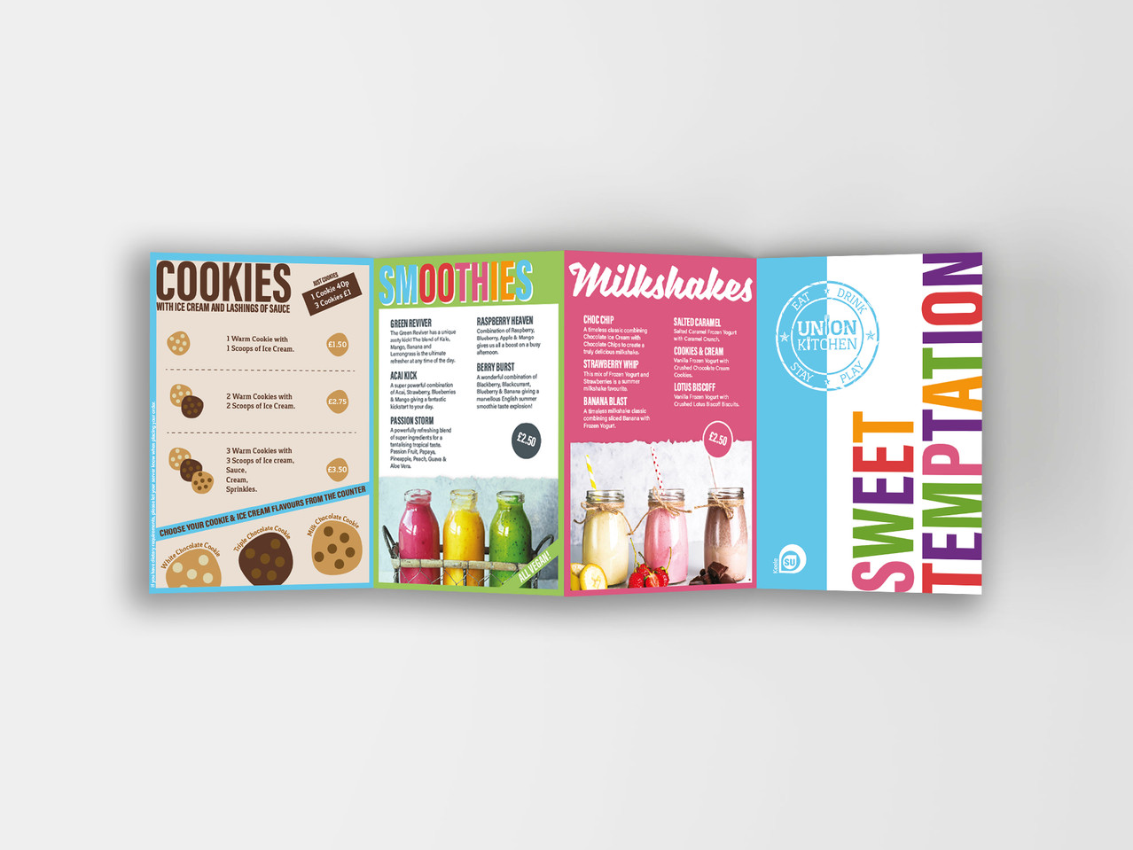 Union Kitchen - Sweet Temptation Conertina Leaflet: Inner Panel Side 2