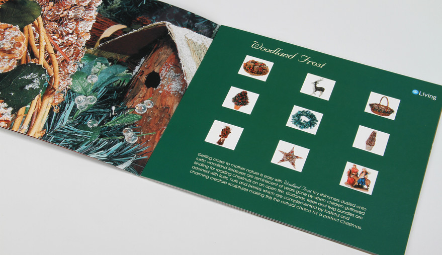 R&C Living Christmas Booklet Forest Spread