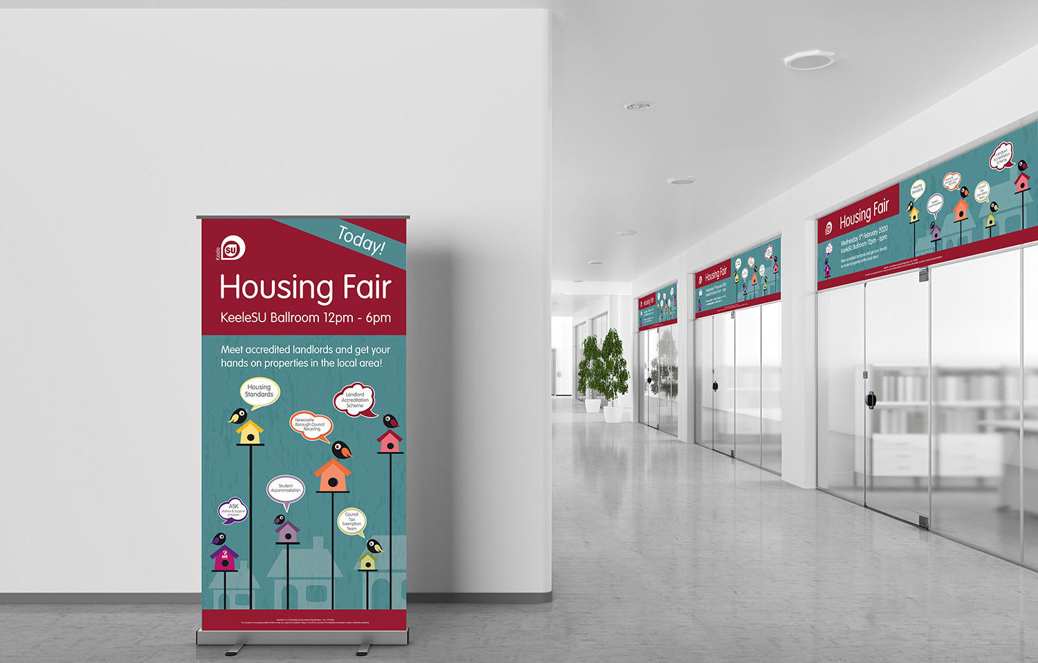 Housing Fair Pull Up Banner and Entrances