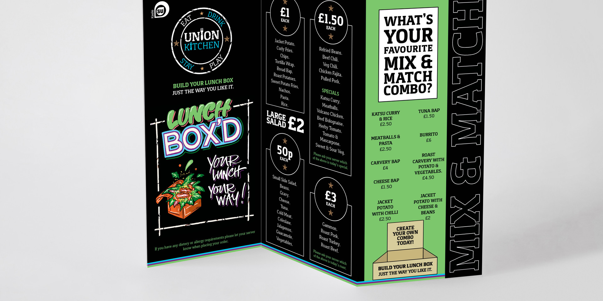 Union Kitchen - Lunch Box'd: Trifold Table Talker