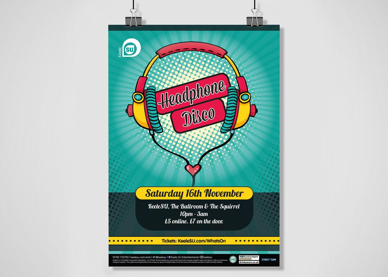 Headphone Disco Poster