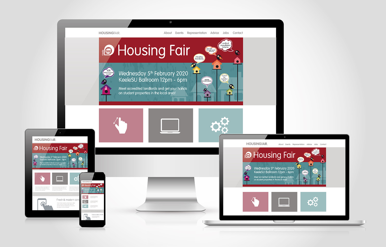 Housing Fair Website Device Media