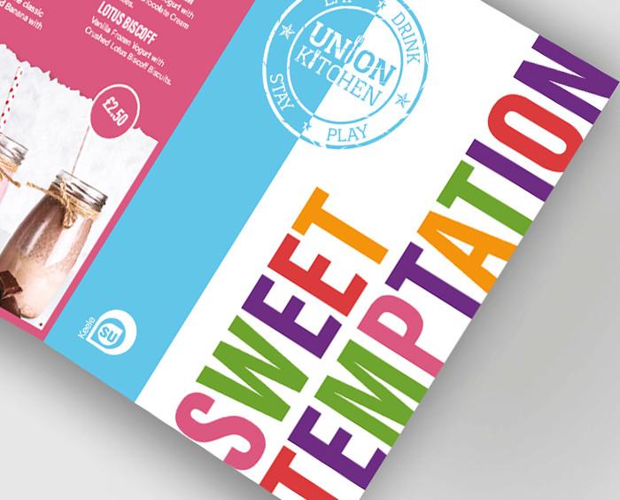 Union Kitchen - Sweet Temptation Conertina Leaflet Cover