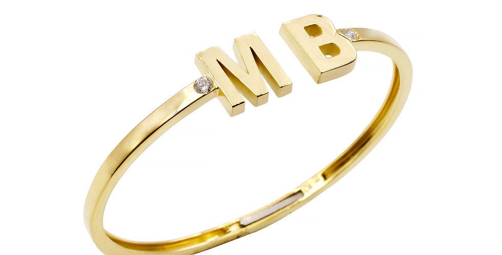 Pulseira Maria Brilhantes em ouro Amarelo 18k