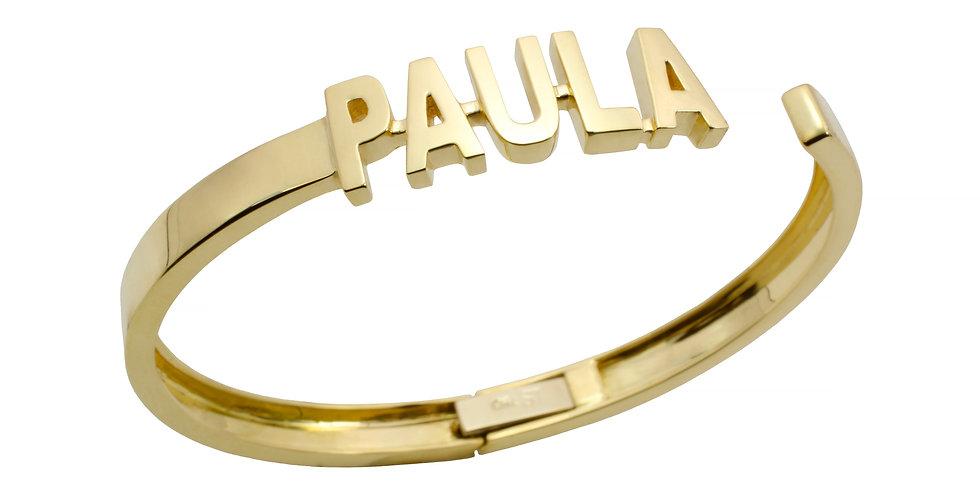 Pulseira Personalizada com Nome em ouro 18k