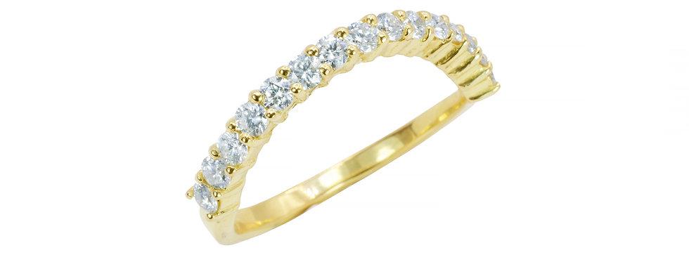 Aliançinha Brilhantes Brancos ouro 18k