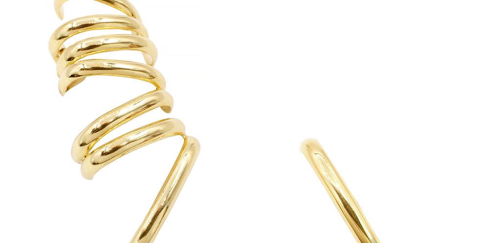 Brinco Hope Grande e Single em ouro 18k Amarelo