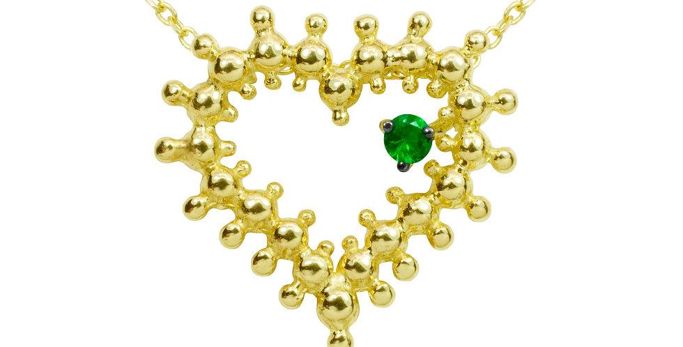 Coração do Bem em Ouro Amarelo 18k com Esmeralda