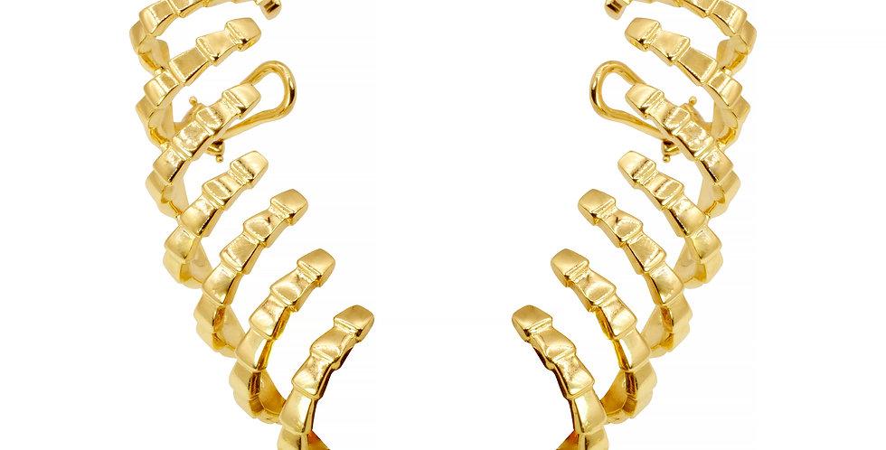 Brinco Athena Longo ouro 18k