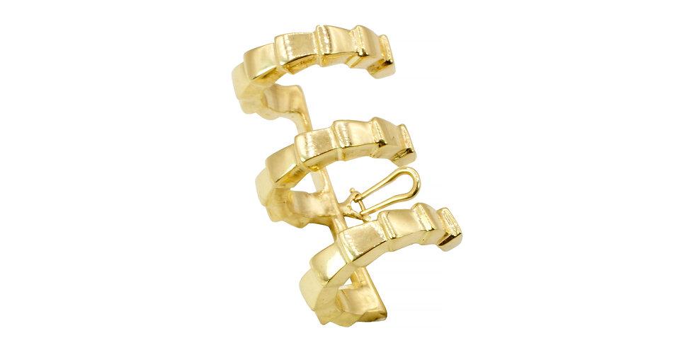 Piercing Triplo Athena em ouro18k