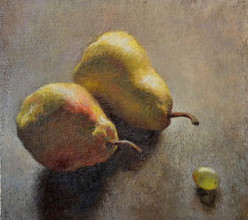 """Two Pears and a Grape"""
