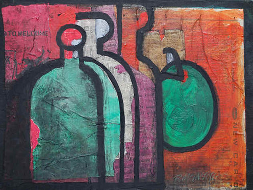 """Still Life with Bottles"""