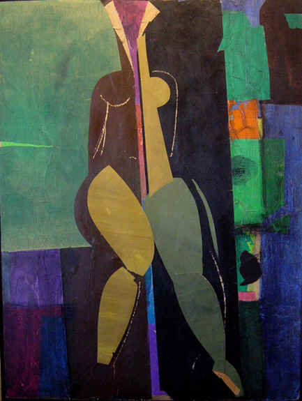 """Cubist Nude in Yellow"""
