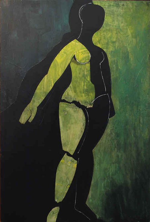 """Cubist Nude in Green"""