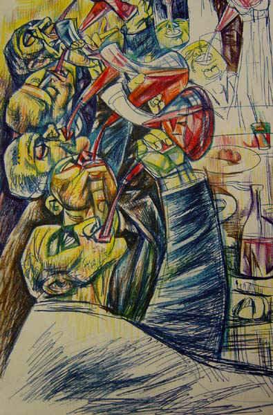 """""""Italian Wine Drinkers"""""""