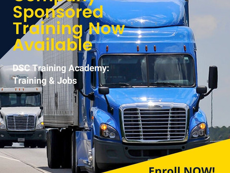 Sponsored Training Now Available