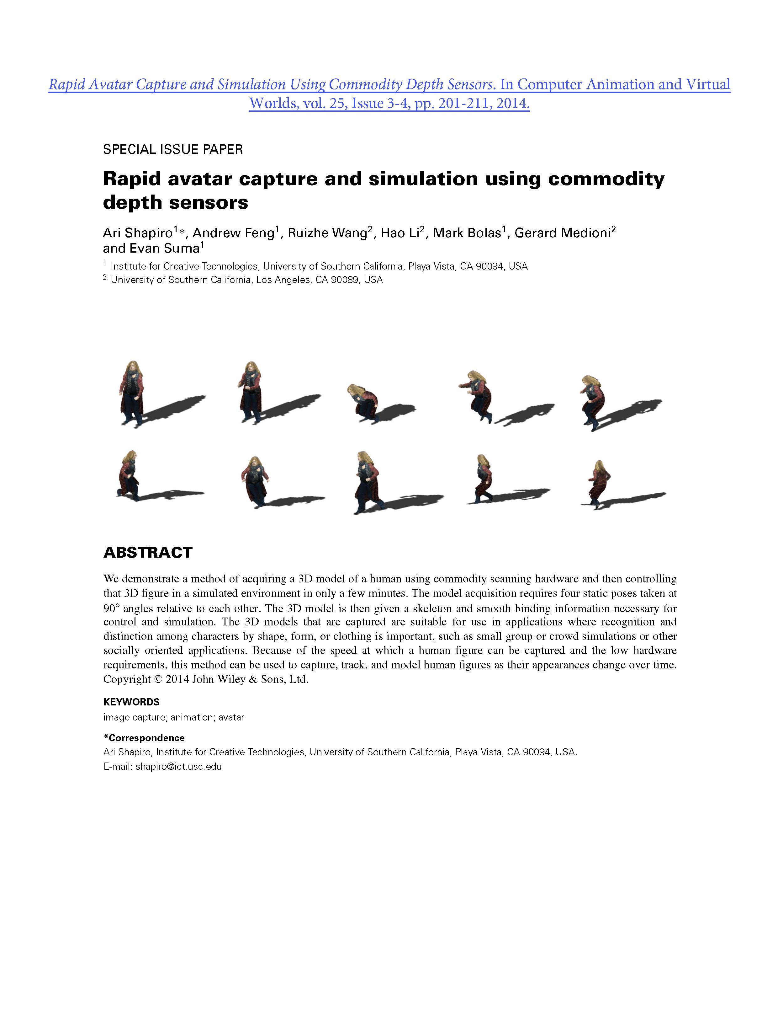 2014.05- Rapid Avatar Capture and Simulation Using Commodity Depth Sensors_TOP SHEET_JP.png