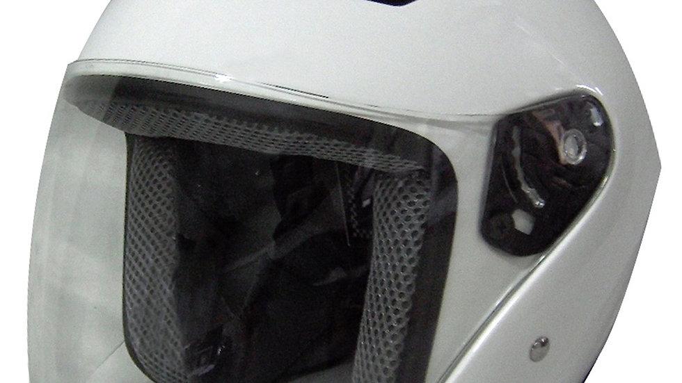 RK5W - WHITE DOT MOTORCYCLE HELMET RK-5 OPEN FACE WITH FLIP SHIELD