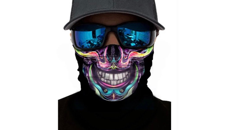 Microfiber Custom neck gaiter with filter