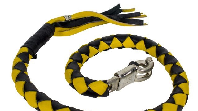 """3"""" Black & Yellow Get Back Whip for Motorcycles"""