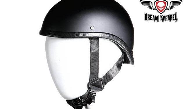 Flat Black Gladiator Novelty Motorcycle Helmet