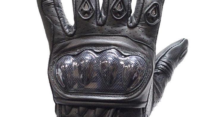 Mens Padded Black Racing Gloves