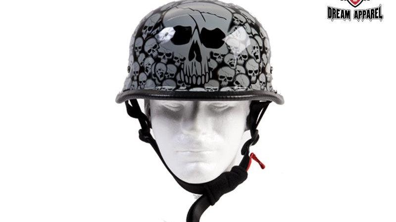 Gray Skull Graveyard German Novelty Helmet