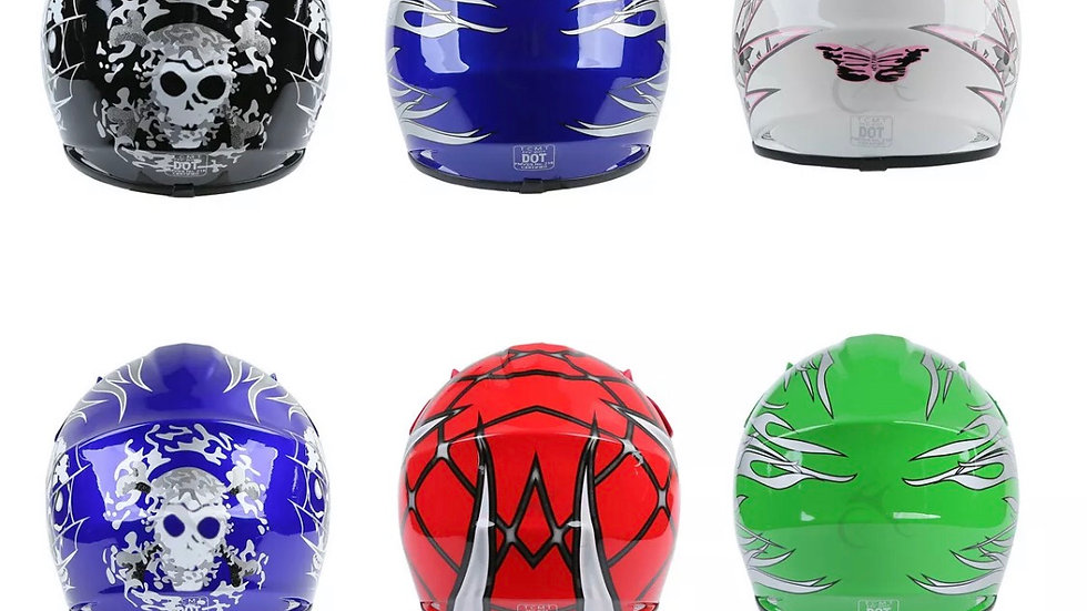 Youth Full Face Helmet Goggles Gloves Youth Kids 6 Colors