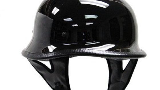 DOT GERMAN GLOSS BLACK MOTORCYCLE HELMET