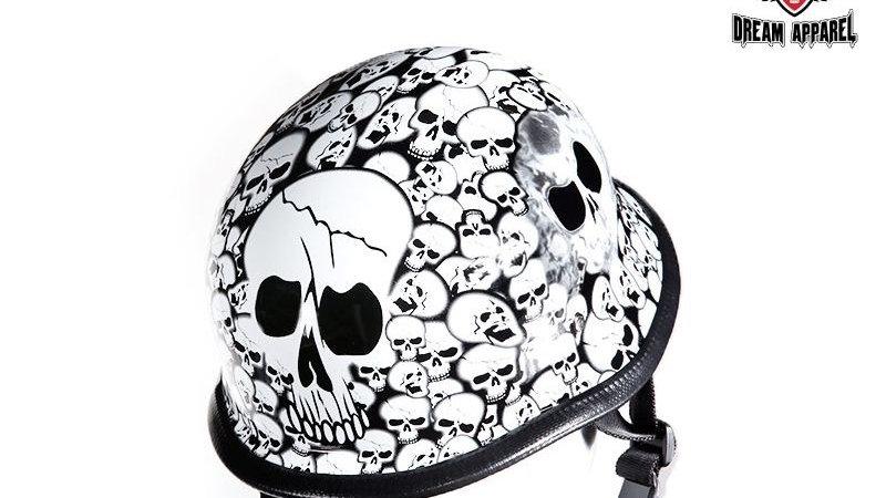 White Skull Graveyard German Novelty Helmet