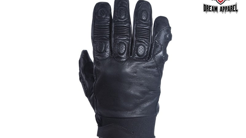 Men's Soft Leather Riding Short Gloves