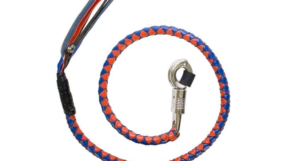 Blue & Orange Motorcycle Get Back Whip