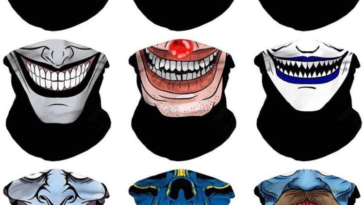 Headband Skull Seamless Clown Bandana Joker Head Wrap Scarf Neck Warmer Headwear