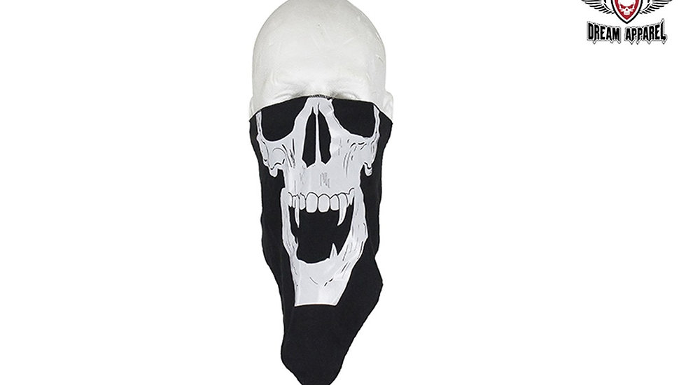 Skull with Fangs Cotton Face Mask