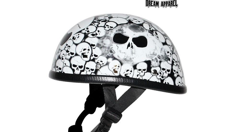 White Eagle Novelty Helmet with Skulls