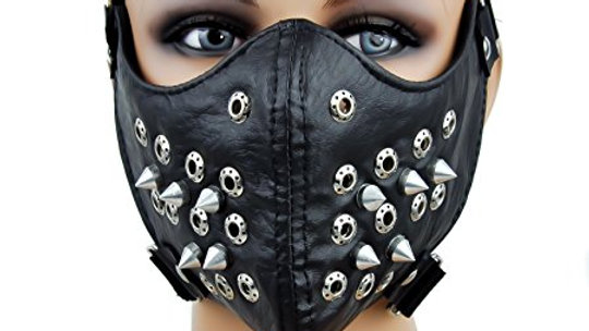 Black Spike Motorcycle Face Mask Protective