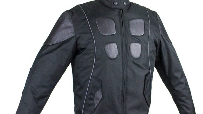Mens Leather & Textile Motorcycle Jacket