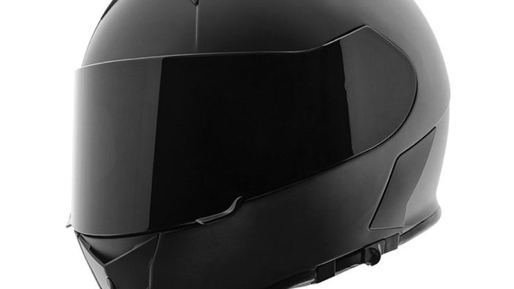 Speed and Strength SS900 Satin Black Full Face Helmet w/ Clear Shield