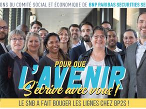 Le SNB a fait bouger les lignes chez BP2S !