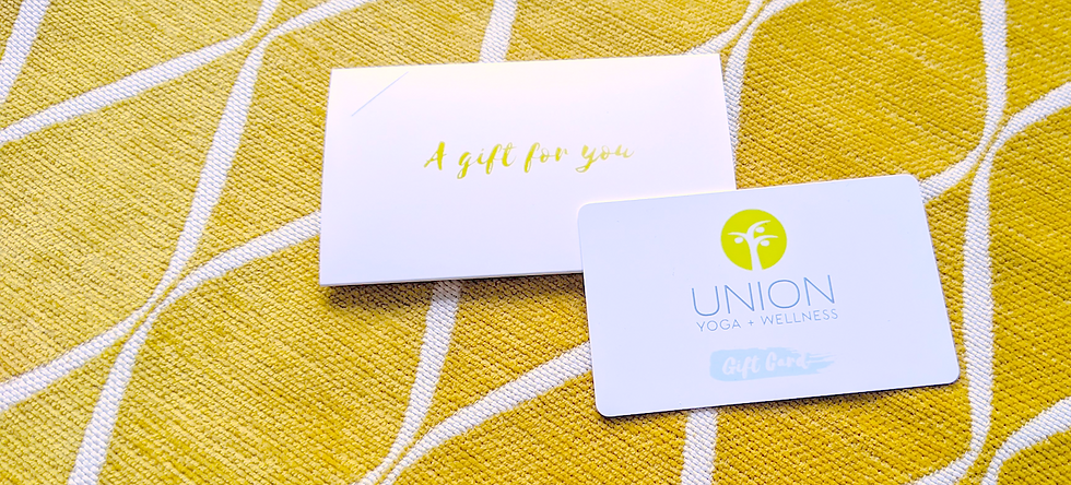 Gift Cards for Union Yoga are available to email or to pick up at 956 Bloor St W, Toronto.  Value ever expires.