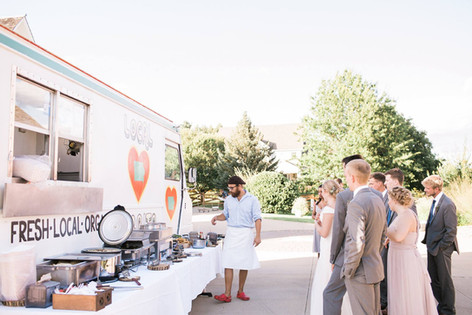 Chef Kyle at a wedding catering