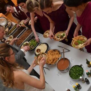 Indoor wedding catering
