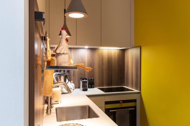 cuisine jaune et bois